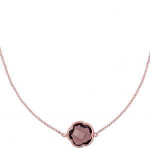 """9ct Rose Gold """"Amy"""" Necklace, a limited edition piece designed to support Berry Street. Featuring a 3ct Clover Cut Smoky Quartz with adjustable chain lengths of 45cm, 50cm and 52cm. Free shipping on all orders."""
