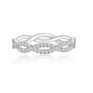 Open infinity diamond band 1-1859
