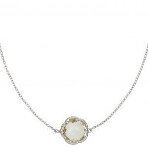 Warrior silver green amethyst necklace