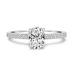 Engagement Rings With Diamond Set Band