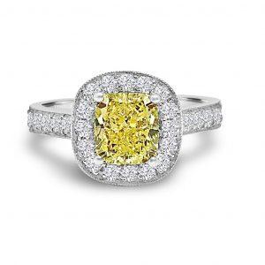 Coloured Diamond Rings