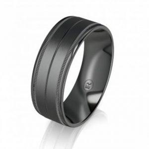Black Zirconium / Zirconium & Gold Rings