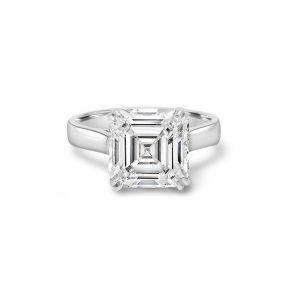 Asscher Cut Diamond Rings